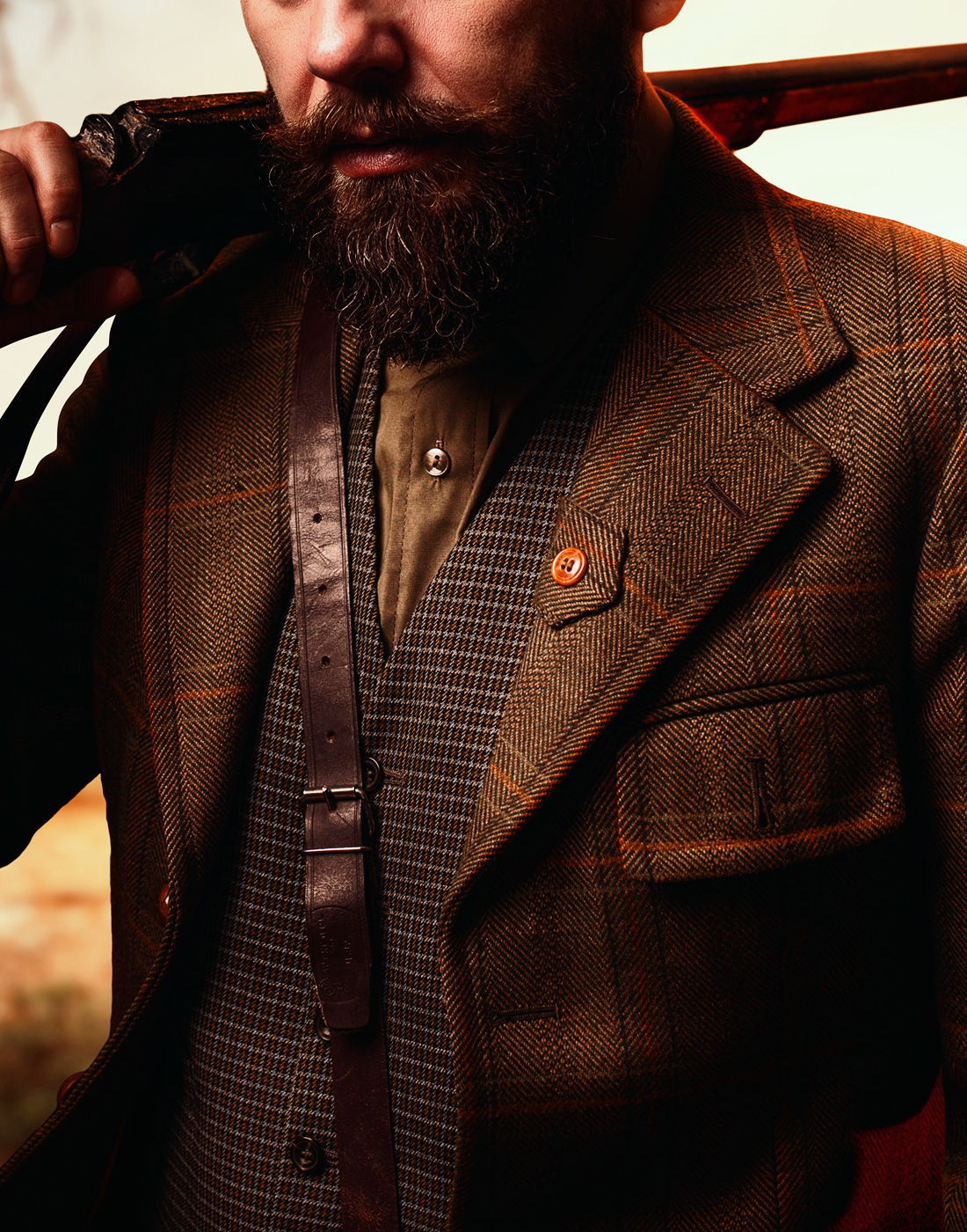 Men's custom brown suit jacket