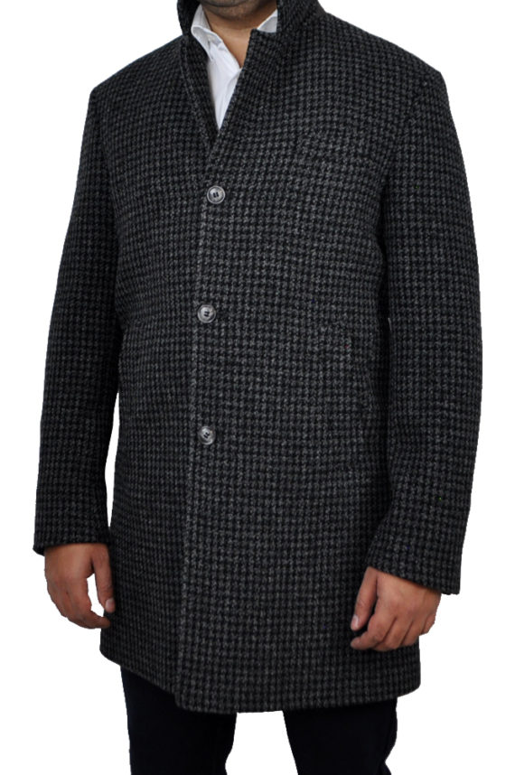 J.TOOR - MICHAEL - Wool Houndstooth Overcoat
