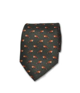 J.TOOR Neck Tie – Foxes on Hunter Green