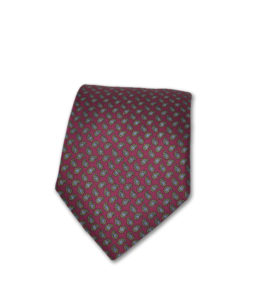 J.TOOR Neck Tie – Gold & Grey Paisley on Burgundy