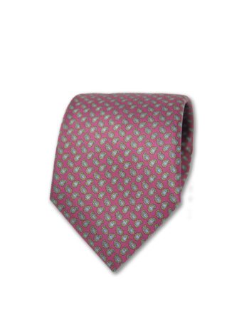 J.TOOR Neck Tie - Grey & Gold Paisley on Burgundy
