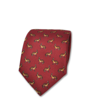 J.TOOR Neck Tie - Hares on Red