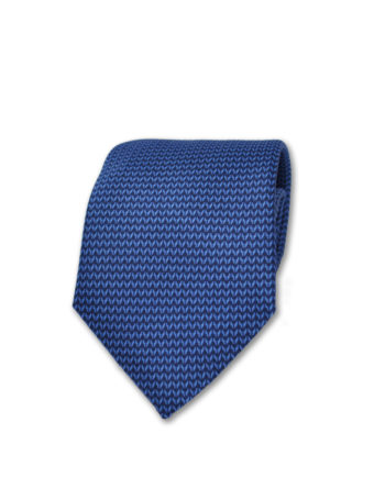 J.TOOR Neck Tie - Light Blue Arrows on Navy