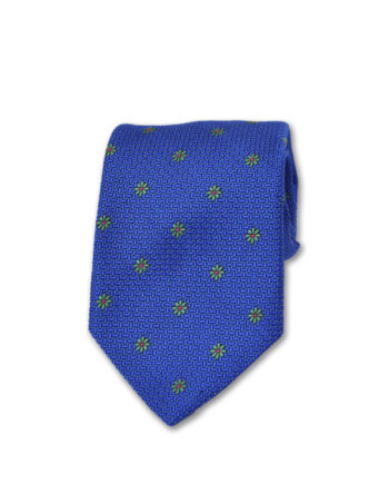 J.TOOR Neck Tie - Light Green flowers on Light Blue