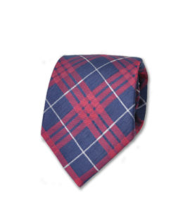 J.TOOR-Neck-Tie-Navy-Red-and-White-Glen-Plaid 2
