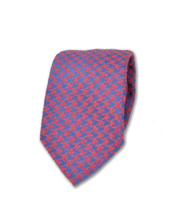 J.TOOR  Neck Tie -  Navy and Red Houndstooth
