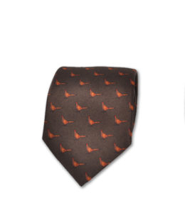 J.TOOR Neck Tie – Pheasants on Brown