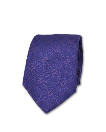 J.TOOR Neck Tie - Purple Self Paisley