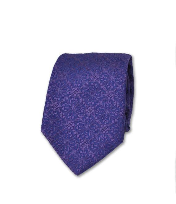 J.TOOR Neck Tie - Purple Self Paisley