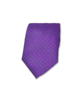 J.TOOR Neck Tie – Purple & Silver Pines on Purple