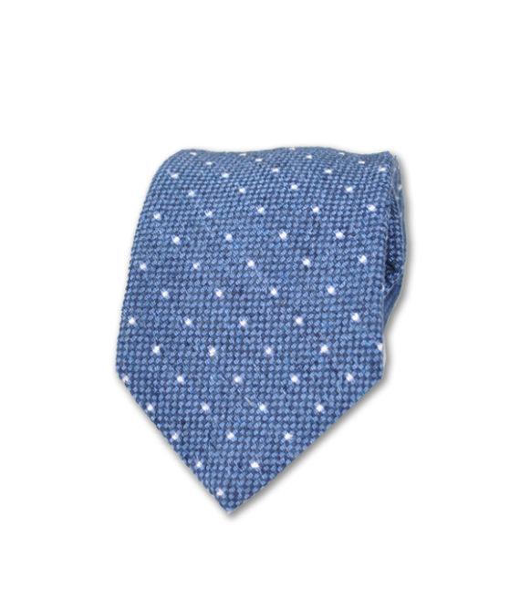 J.TOOR Neck Tie - White Dots on Light Blue