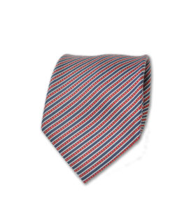 Santo Stefano – Neck Tie – Red and Black Diagonal Stripe
