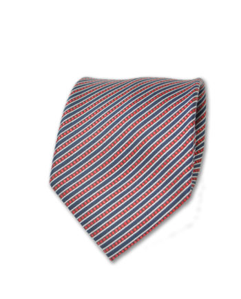 Santo Stefano - Neck Tie - Red and Black Diagonal Stripe