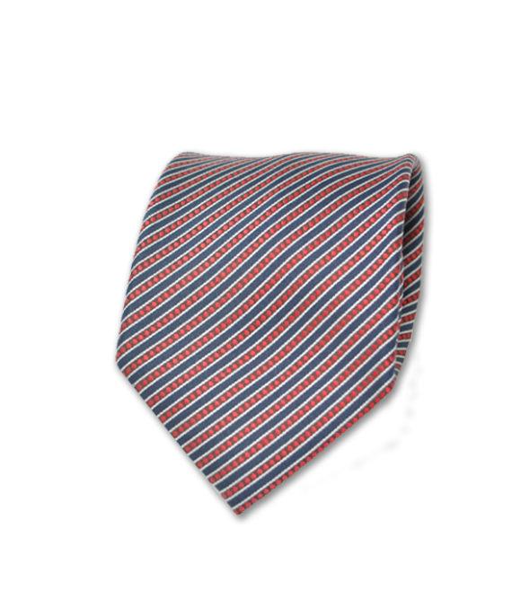 Santo Stefano - Neck Tie - Red and Black Diagonal Stripe