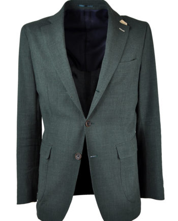 J.TOOR Tailored Unstructured Jacket - Loro Piana Linen/Wool - Green