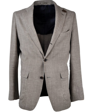 J.TOOR Tailored Unstructured Jacket - Loro Piana Linen/Wool - Tan
