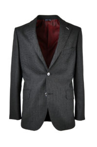 J.TOOR Tailored Sport Jacket – Zignone Wool – Grey/ Black Oversize Birdseye