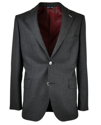 J.TOOR Tailored Sport Jacket - Zignone Wool - Grey/ Black Oversize Birdseye
