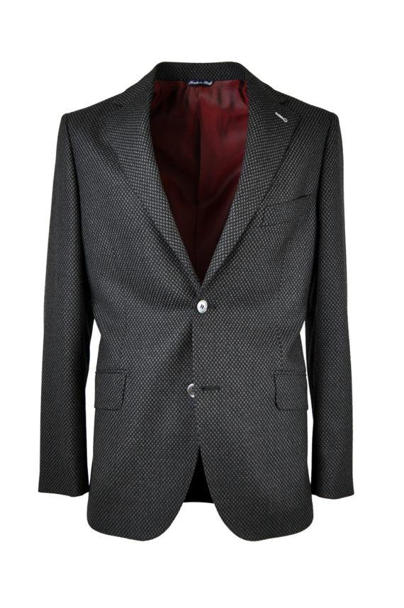 J.TOOR Tailored Sport Jacket - Zignone Wool - Grey/ Black Oversize Birdseye
