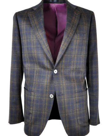 J.TOOR Tailored Sport Jacket - Scabal - Eggplant/Brown Plaid - Wool/Cashmere