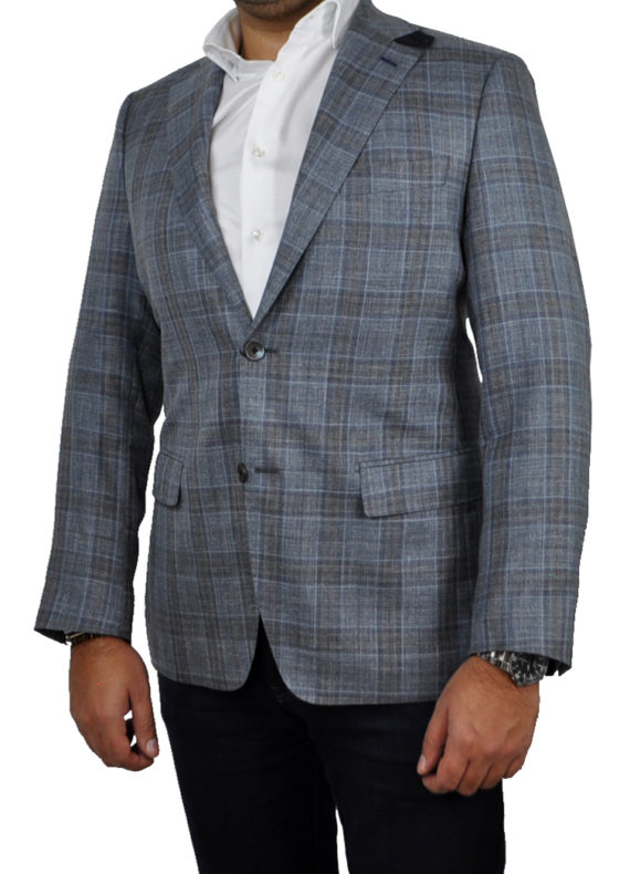 J.TOOR Tailored Sport Jacket - Loro Piana - Blue Check