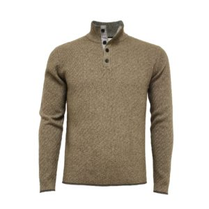 Hommard – Andromeda Wool/Yak/Cashmere 1/4 Button – Camel