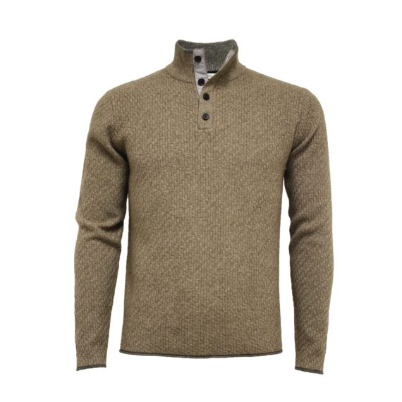 Hommard - Andromeda Wool/Yak/Cashmere 1/4 Button - Camel