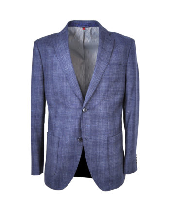 J.TOOR - Trent - Wool Unstructured Jacket - Navy Plaid