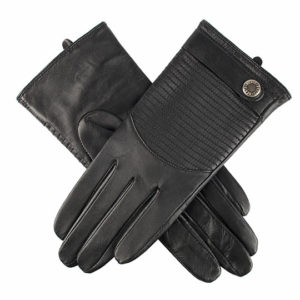 Dents – Ladies – LEATHER GLOVES Black Hairsheep 7-2390