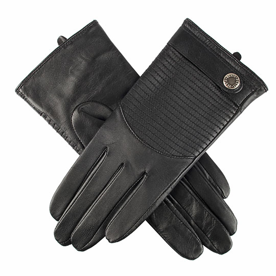 Dents - Ladies - LEATHER GLOVES Black Hairsheep 7-2390