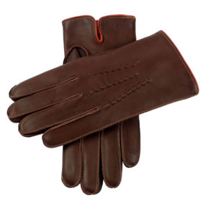 Dents Men's Heritage Glove – Alnwick – English TanTangerine Hairsheep w Orange Cashmere