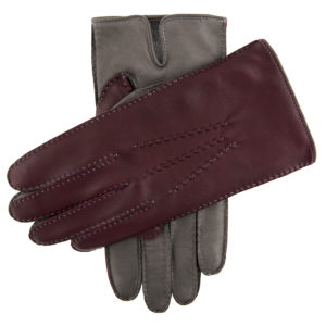 Dents – Mens – LEATHER GLOVES CONTRAST CASHMERE – GRYCLAPTR Hairsheep 15-1084