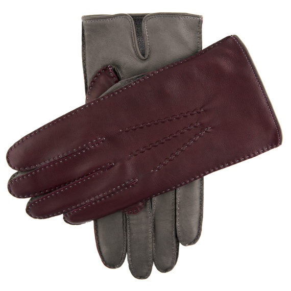 Dents - Mens - LEATHER GLOVES CONTRAST CASHMERE - GRYCLAPTR Hairsheep 15-1084