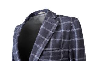 GENT by J.TOOR – Jacket – Craig – GreyBlue Windowpane 3