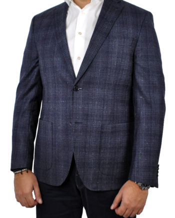 GENT by J.TOOR - Trent - Wool Unstructured Jacket - Navy Plaid
