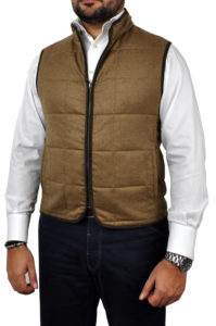 J.TOOR – Hall – WoolCashmere Quilted Vest – Tan 1