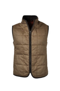 J.TOOR – Hall – WoolCashmere Quilted Vest – Tan