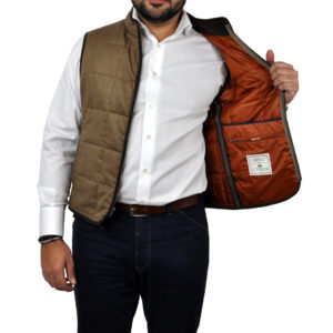 J.TOOR – Hall – WoolCashmere Quilted Vest – Tan 3
