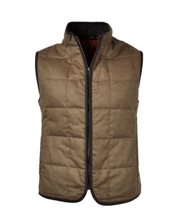 J.TOOR - Hall - WoolCashmere Quilted Vest - Tan
