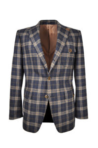 J.TOOR Tailored Sport Jacket – Holland & Sherry – Grey and Brown Check