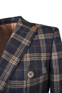 J.TOOR Tailored Sport Jacket – Holland & Sherry – Grey and Brown Check 3