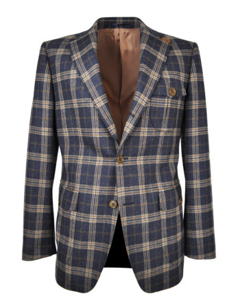 J.TOOR Tailored Sport Jacket - Holland & Sherry - Grey and Brown Check