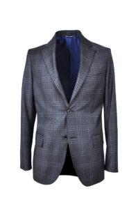 J.TOOR Tailored Sport Jacket – Reda Wool – Dark Grey Plaid