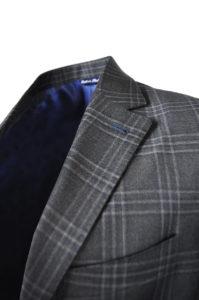 J.TOOR Tailored Sport Jacket – Reda Wool – Dark Grey Plaid 2