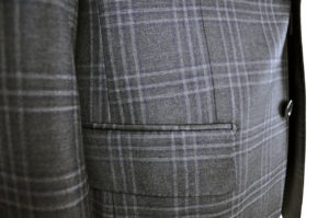 J.TOOR Tailored Sport Jacket – Reda Wool – Dark Grey Plaid 3