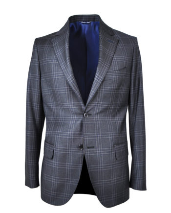 J.TOOR Tailored Sport Jacket - Reda Wool - Dark Grey Plaid