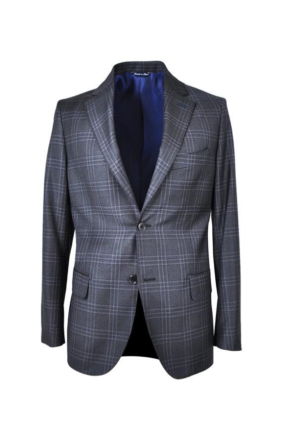 J.TOOR Tailored Sport Jacket - Reda Wool - Dark Grey Plaid