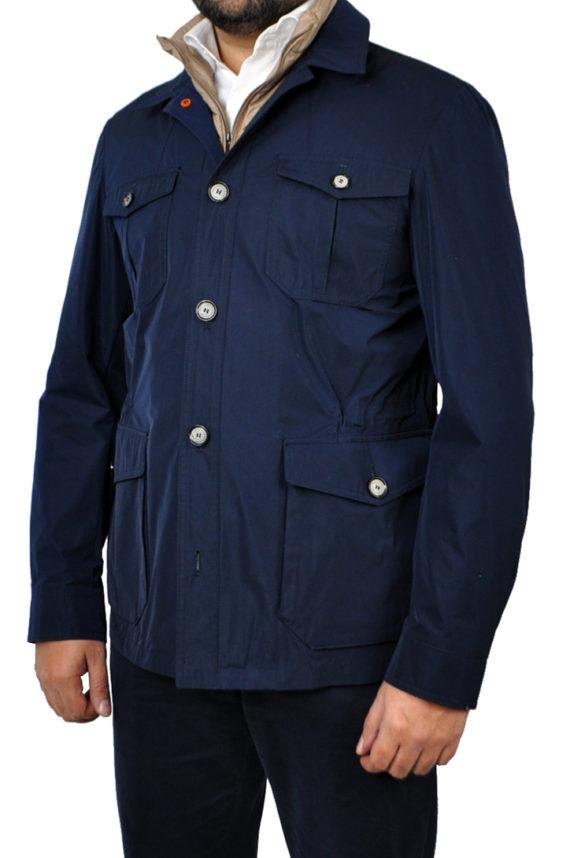J.TOOR - ARI - Lightweight Field Jacket wRemovable Vest Insert - Navy