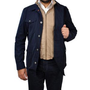 J.TOOR – ARI – Lightweight Field Jacket wRemovable Vest Insert – Navy 3
