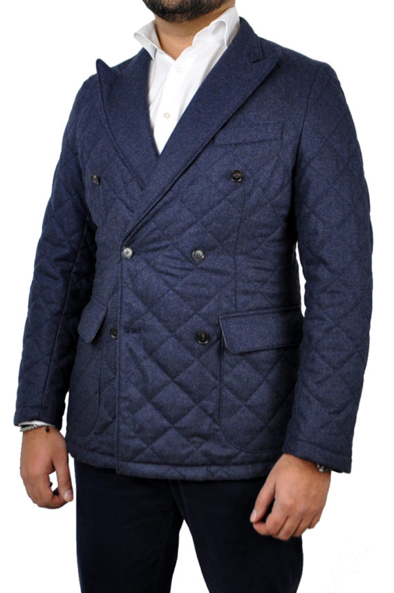 J.TOOR - DORIAN - Double Breasted Water Repellant Wool Quilted Jacket